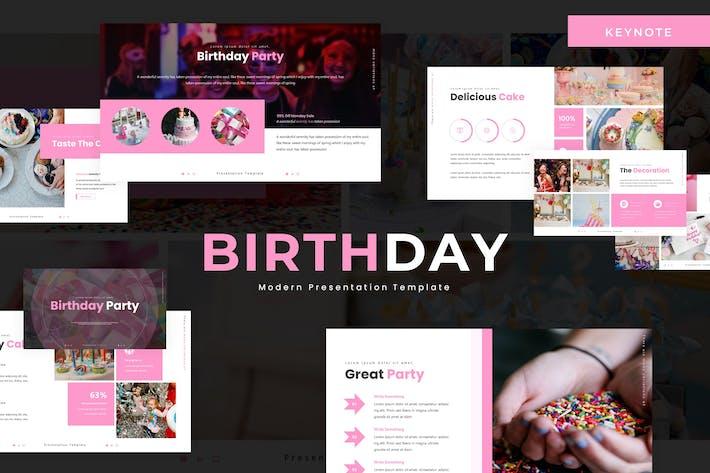 День рождения - Шаблон Keynote