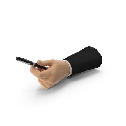 Traje de mano entregando un bolígrafo