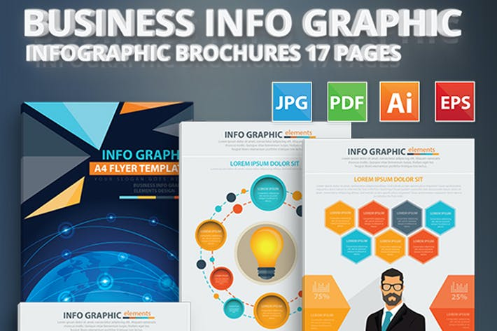 Thumbnail for Business Info Graphic Elements Design