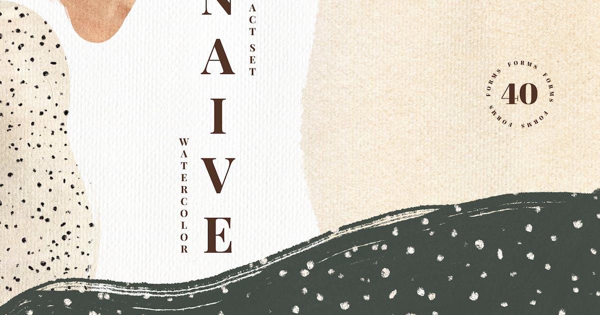 Download Naive. Watercolor Abstract Set by nadispasibenko