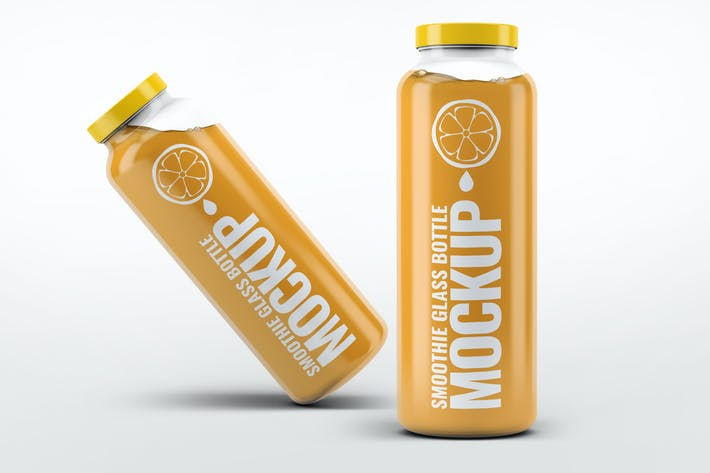 Thumbnail for Smoothie Glass Bottle Mock-Up