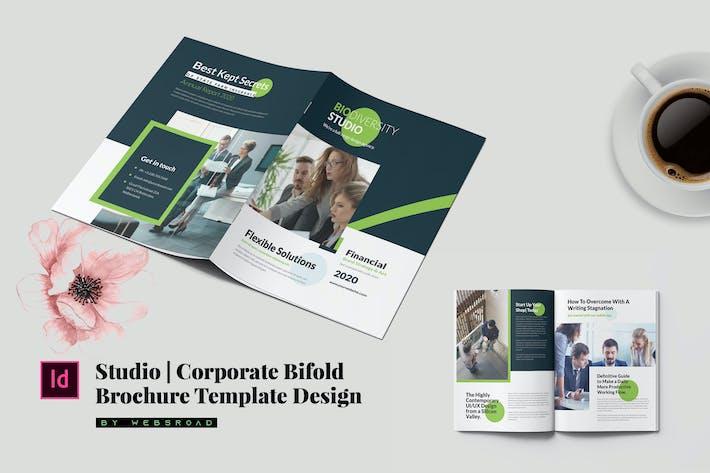 Thumbnail for Studio   Corporate Bifold Brochure Template Design