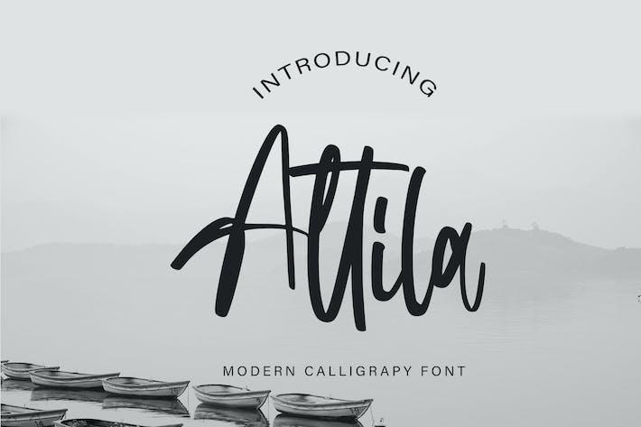 Thumbnail for Attila | Fontes de Calligraphie Moderne