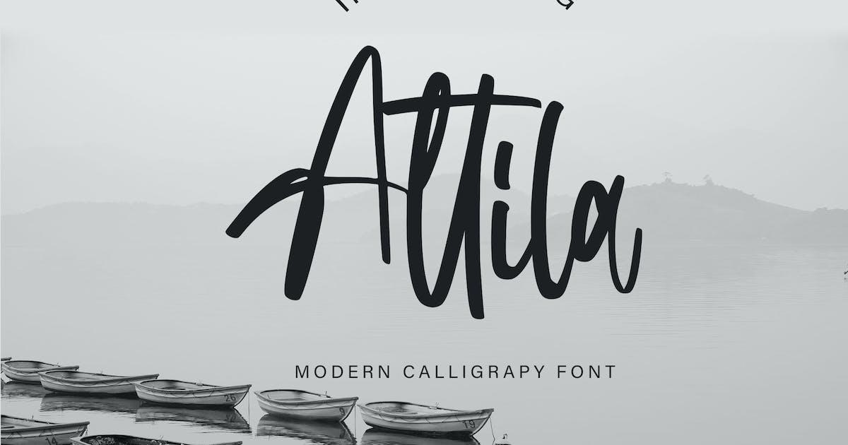 Download Attila   Modern Calligraphy Font by Vunira