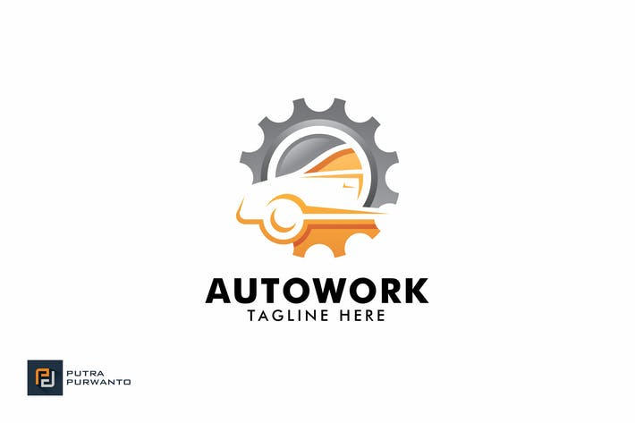 Thumbnail for Auto Work - Logo Template