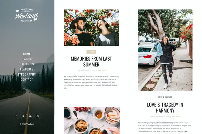 Cover Image For Weeland - Mauerwerk Lifestyle WordPress Blog Thema