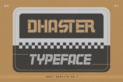 Dhaster Typeface