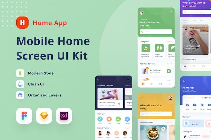 Mobile Home Screen UI Kit