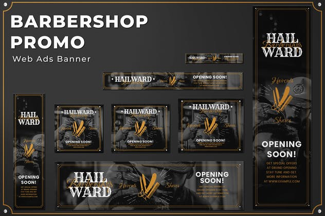 Web Ads Banners - Barbershop Promotion