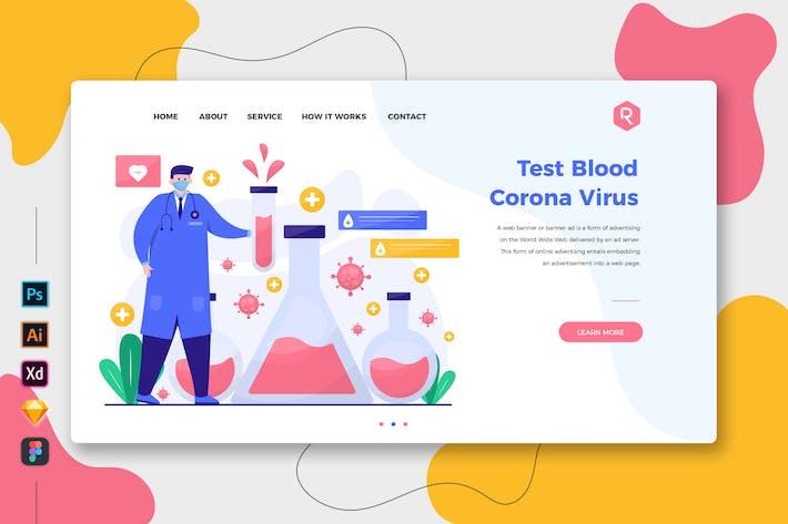 Test Blood Corona Virus Web & Mobile Landing Page