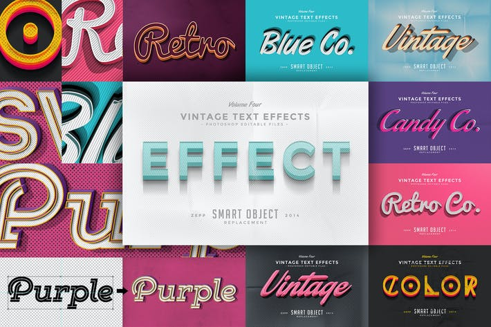 Thumbnail for Vintage Text Effects Vol.4