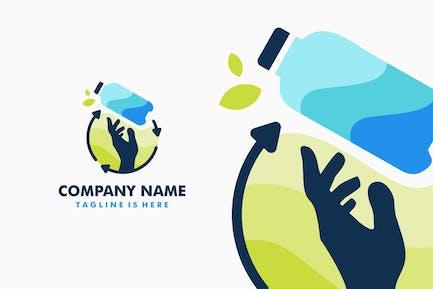 Hand Bottle Recycle Logo