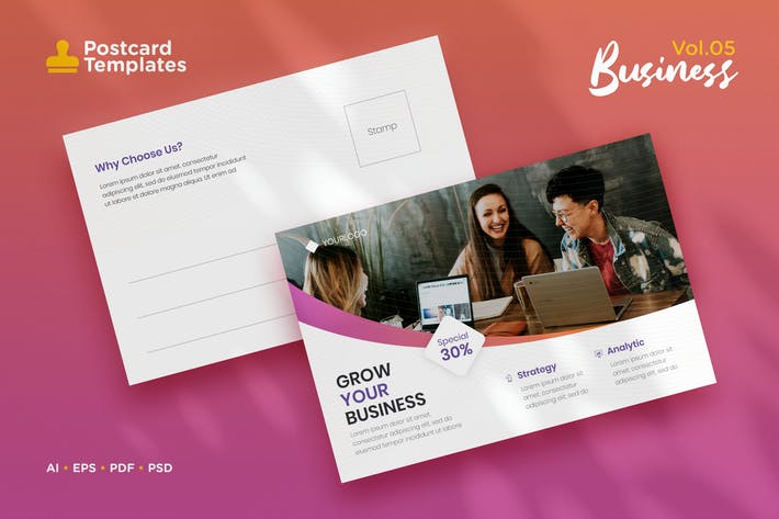 Thumbnail for Postcard Template Vol.05 Business