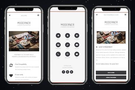 Moderner Mobile | Mobile Template & Google AMP