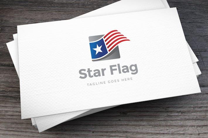 Thumbnail for Star Flag Logo Template