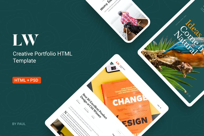 Cover Image For Lewis - Creative Portfolio & Agency HTML Template