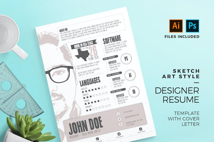 263 Resume Graphic Templates Compatible With Adobe Photoshop