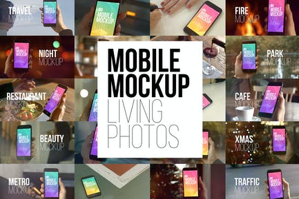 Mobile Mockup Living Photos