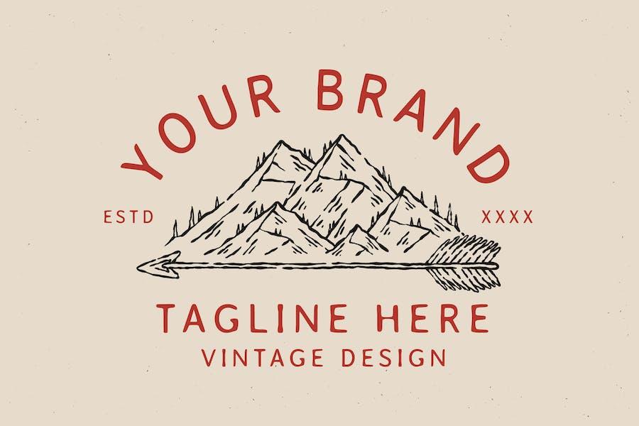 vintage badge outdoor mountain design