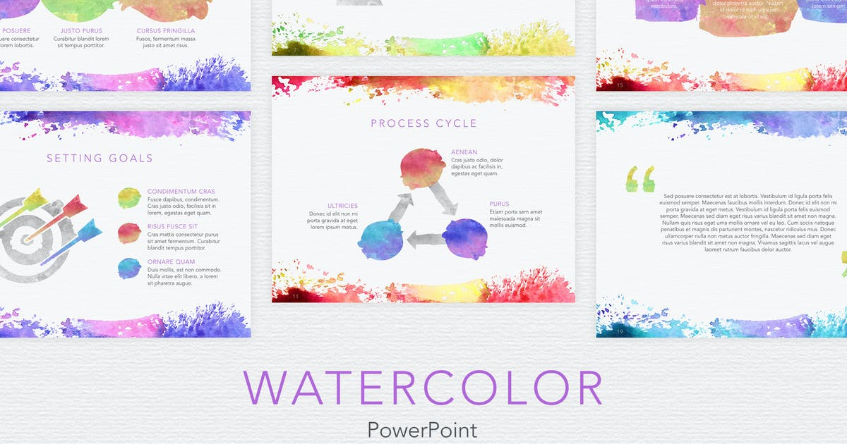Download Watercolor PowerPoint Template by Unknow