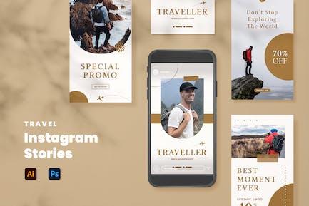 Histoires Instagram Voyage