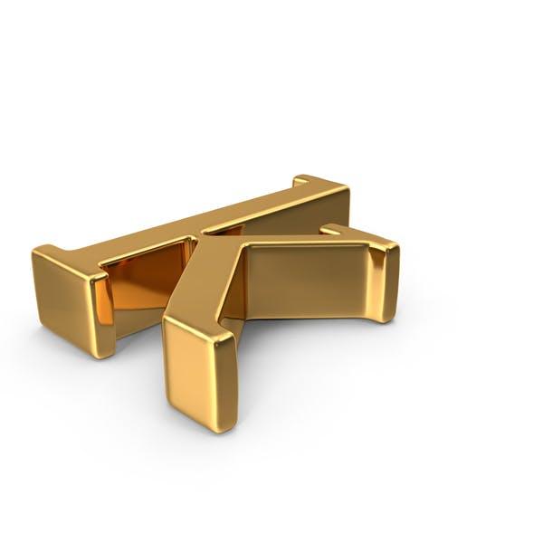 Thumbnail for Gold Small Letter K