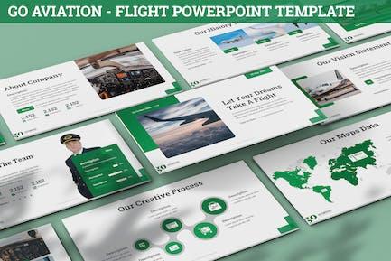 Go Aviation - Flight Powerpoint Template