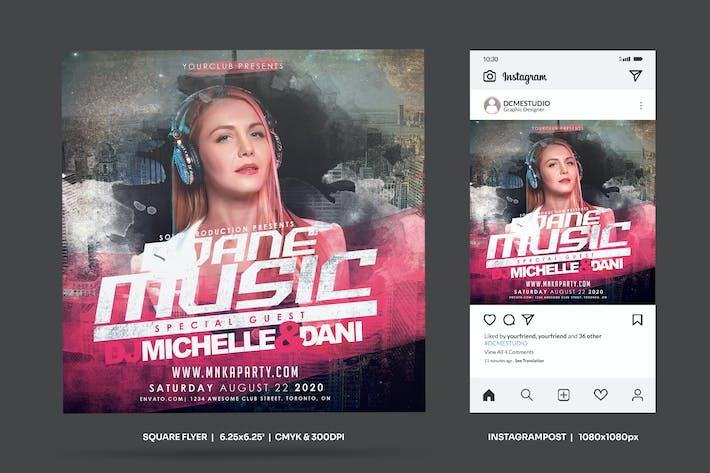 Thumbnail for DJ Guest Party Square dépliant & Insta Post