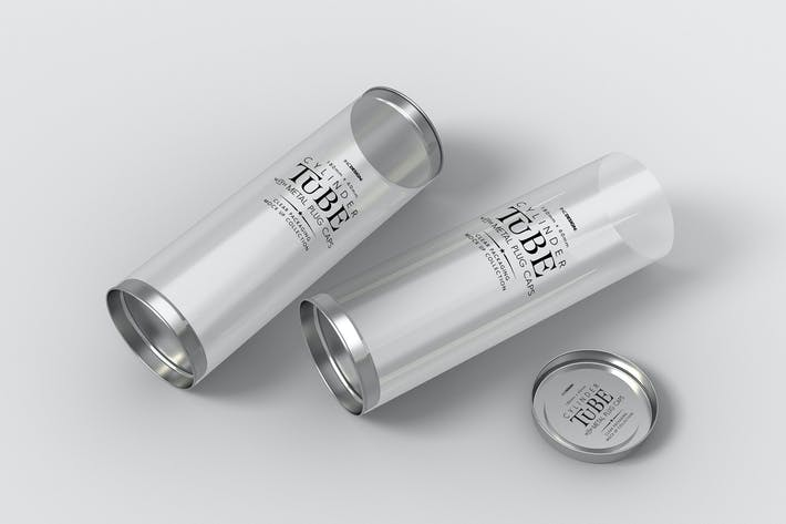 180mm Clear cylinder Packaging Mock Up by ina717 on Envato Elements