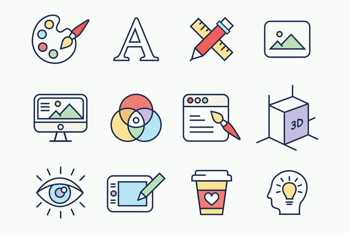 Thumbnail for Line Design Color Icons