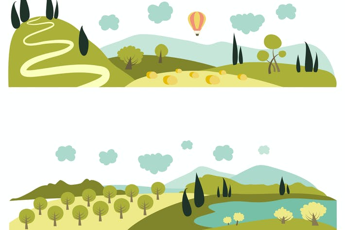 Thumbnail for Summer landscapes. Vector illustration