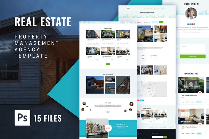 Cover Image For RealEstate Property Management Agency Web Template
