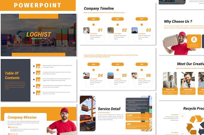 Логист - Шаблон Powerpoint для бизнеса
