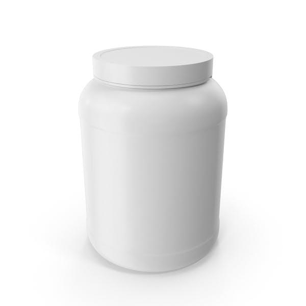 Botellas de Plástico Boca Ancha 2 Galones Blanco