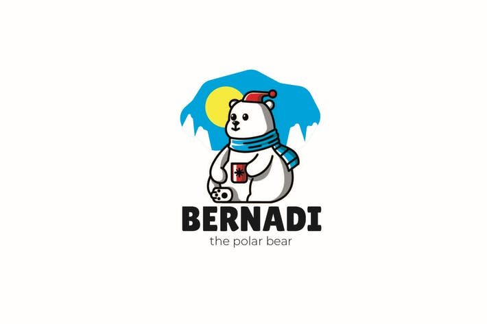 Thumbnail for Snow Bear - Mascot Logo
