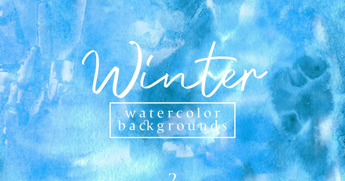 Download Winter Watercolor Backgrounds 2 by FreezeronMedia