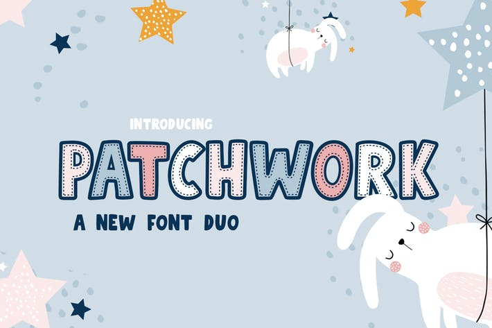 Thumbnail for Patchwork Font Duo