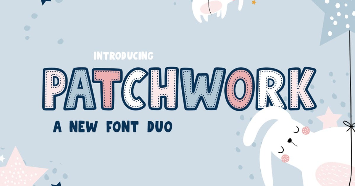 Download Patchwork Font Duo by maroonbaboon