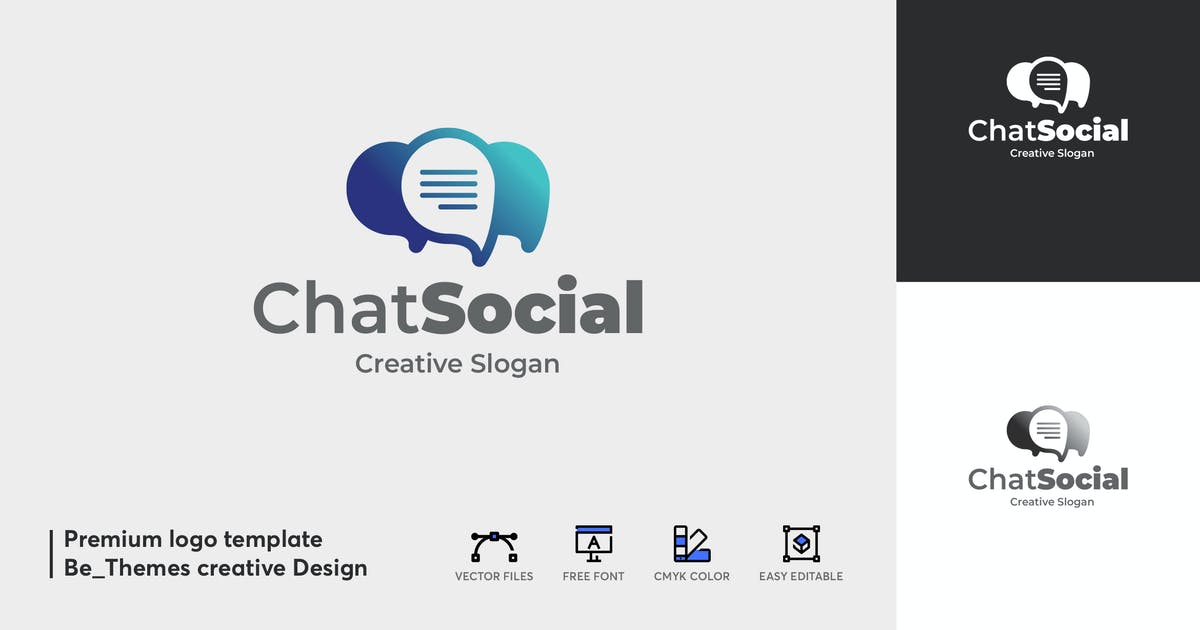 Download Chat Social Logo Template by Be_Themes