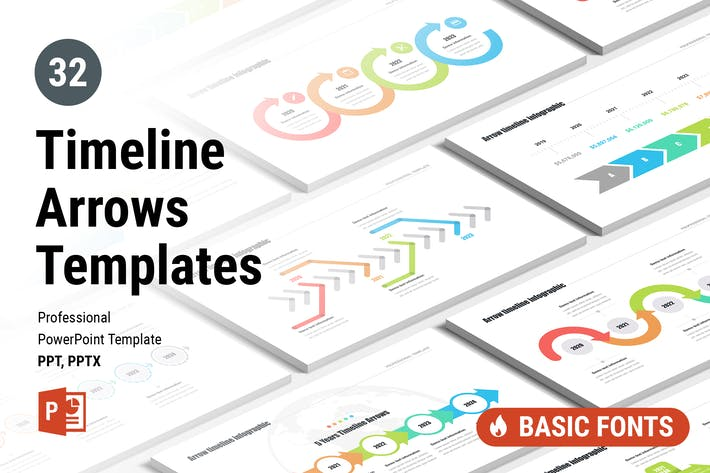 Thumbnail for Timeline Arrows Templates for PowerPoint