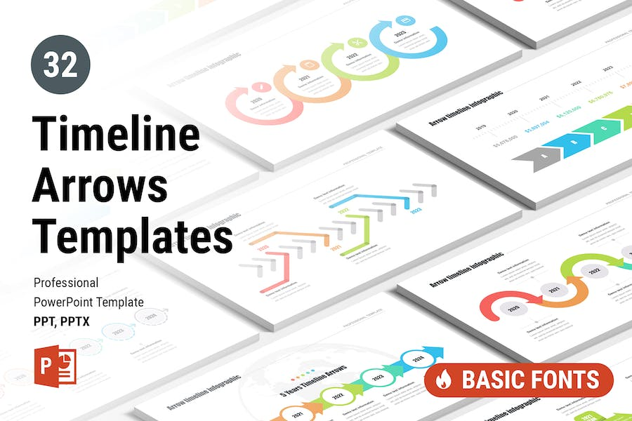 Timeline Arrows Templates for PowerPoint