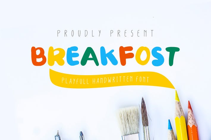 Thumbnail for Break Fost Handwritten Font