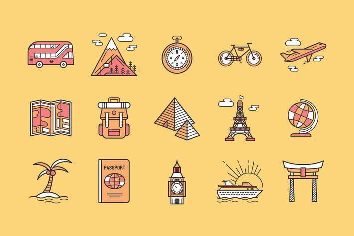 Thumbnail for 15 Travel Icons