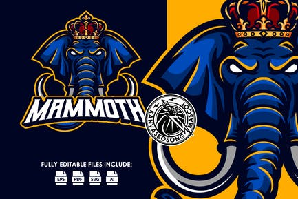 King Mammoth Logo Template