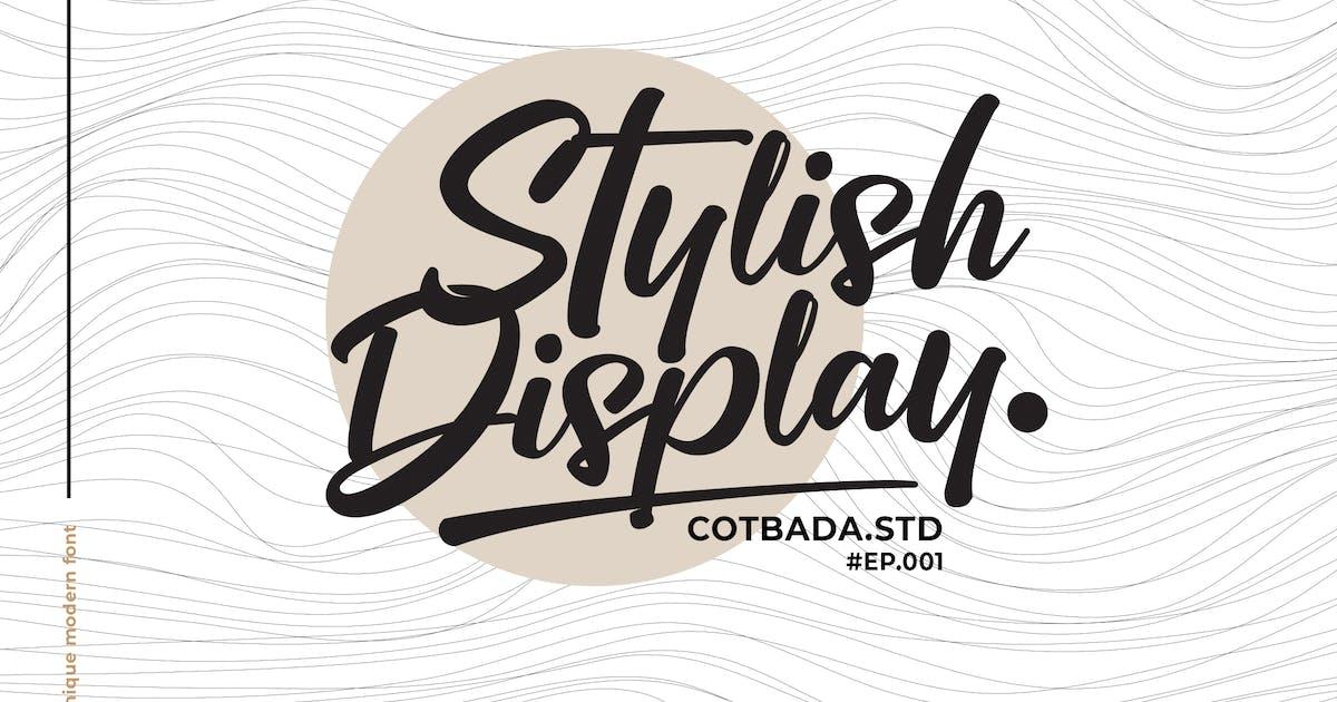 Download Stylish Display Font by Cotbada-studio