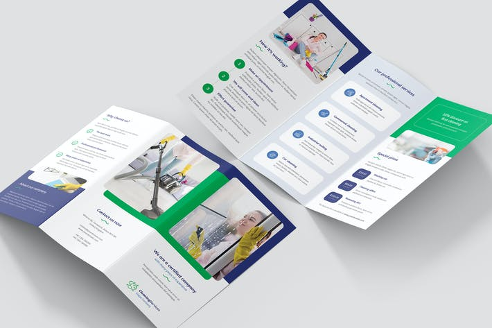 Thumbnail for Brochure – Cleaning Service Tri-Fold
