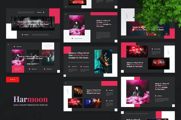 Thumbnail for Harmoon - Музыкальный концерт Powerpoint Шаблон