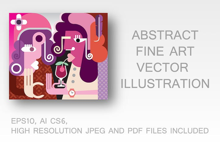 Thumbnail for Two Beautiful Women fine art vector illustration