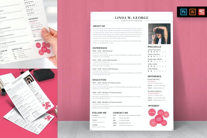 Thumbnail for Resume CV Template-98