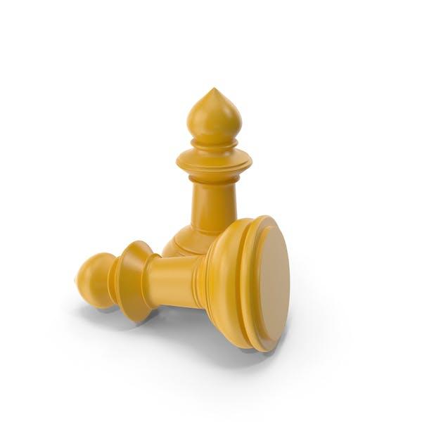 Chess Pawn Yellow